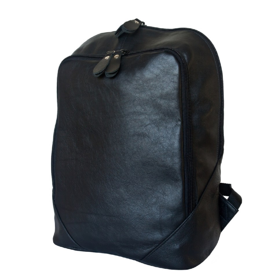 Фото Кожаный городской рюкзак Маджионе черный