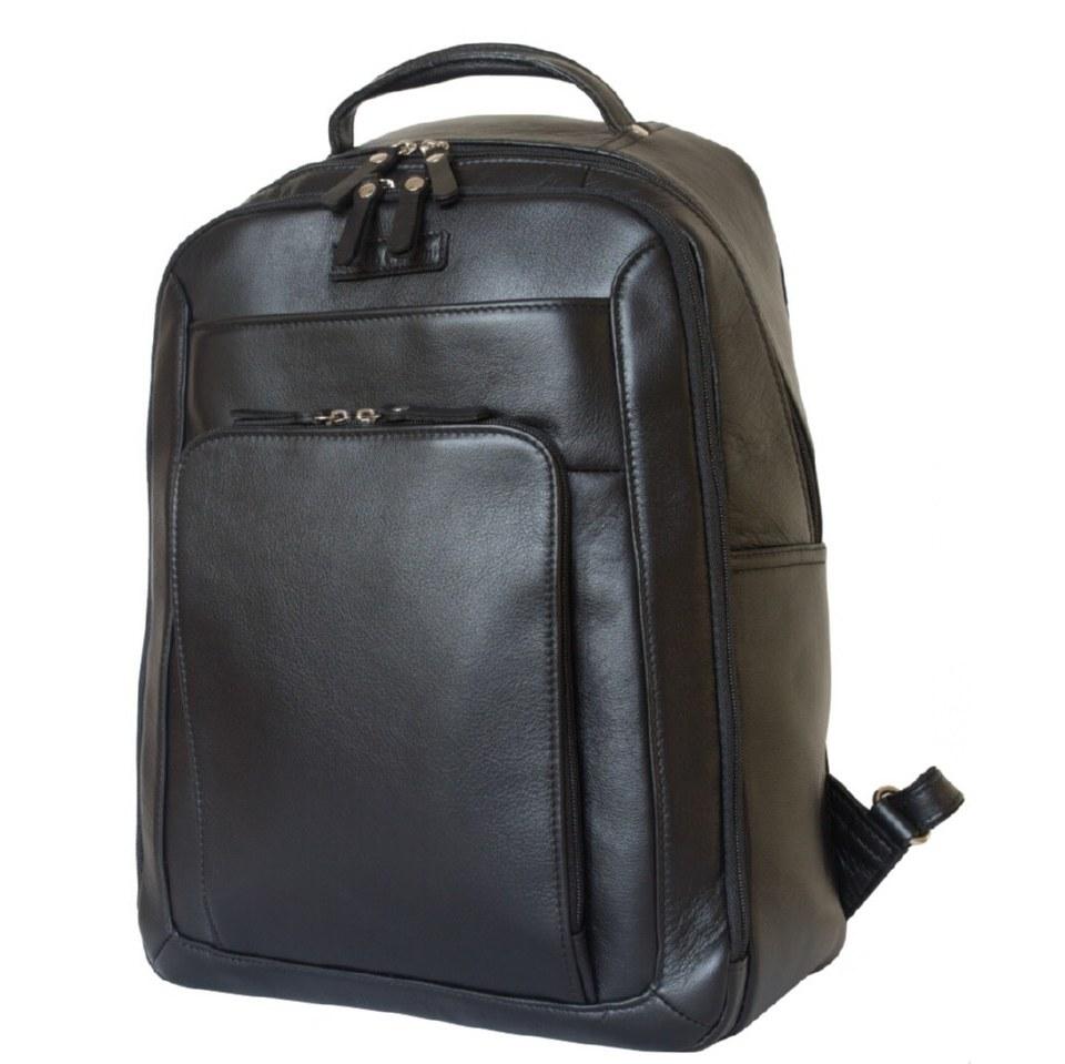 Фото Кожаный рюкзак Монтеморо черный