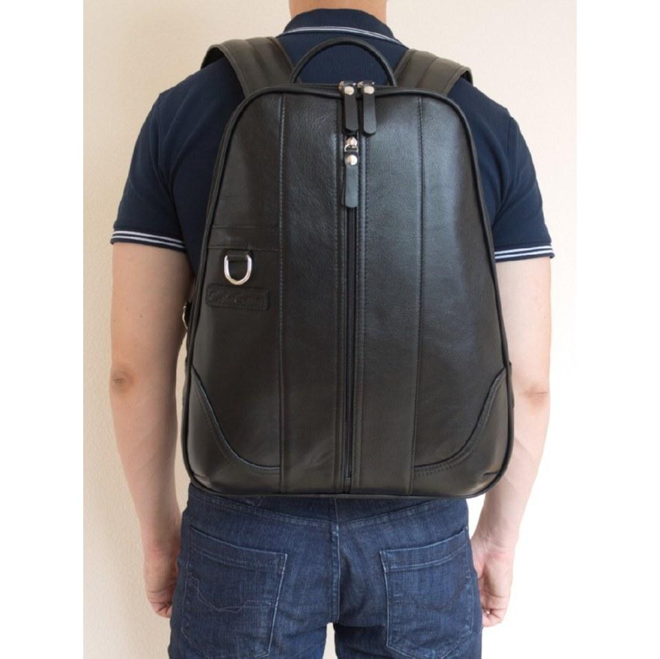 Фото Кожаный рюкзак Раццоло черный