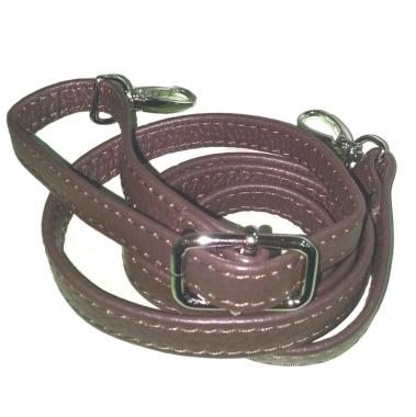 Фото Кожаный ремень для сумки коричневый