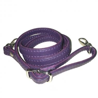 Фото Кожаный ремень для сумки фиолетовый