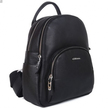 Фото Черный кожаный рюкзак 201776 Q11