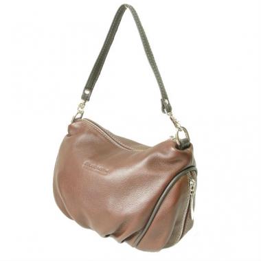 Фото Женская кожаная сумочка 3314 коричневая