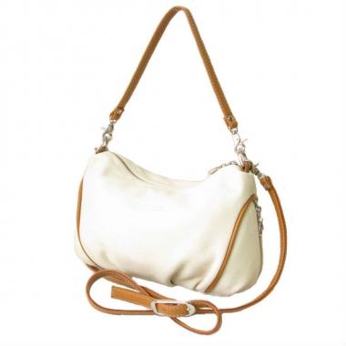 Фото Женская кожаная сумочка 3314 бежевая