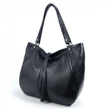 Фото Кожаная женская сумка на плечо 3347