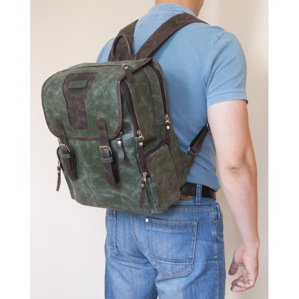Фото Мужской рюкзак Сантерно зеленый