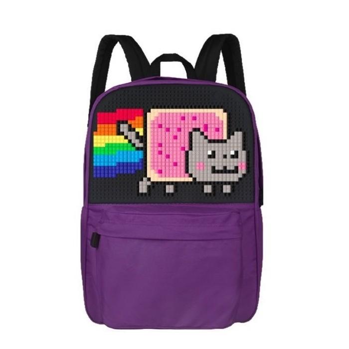 Фото Фиолетовый пиксельный рюкзак для школы WY-A013