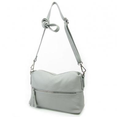 Фото Летняя кожаная сумка женская 3833 серая
