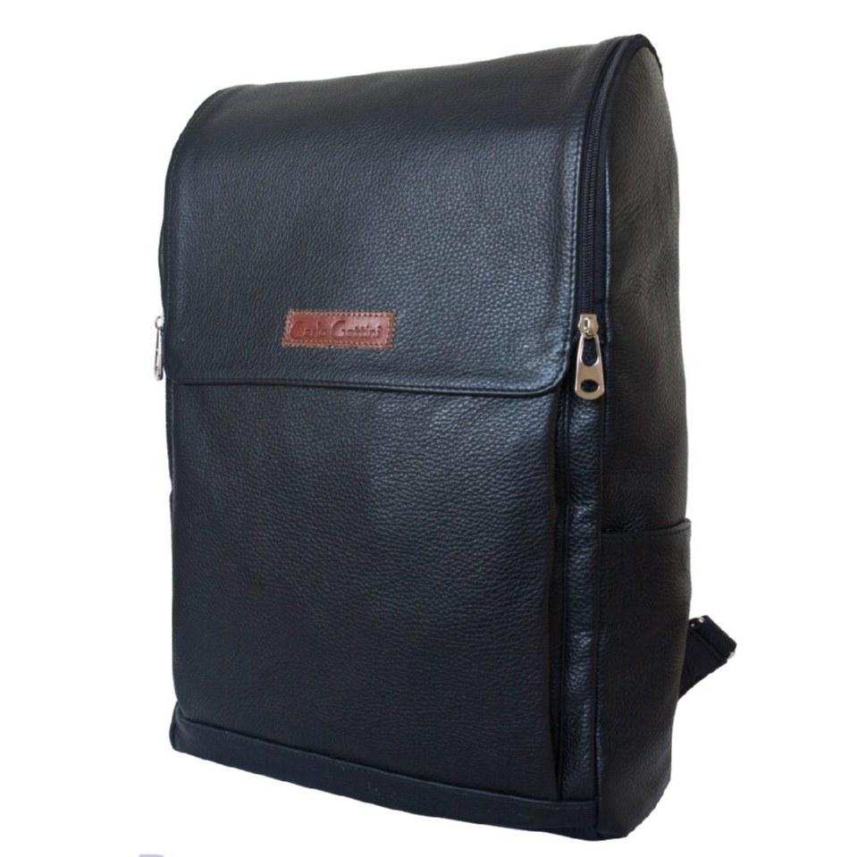 Фото Большой кожаный рюкзак Туфетто черный