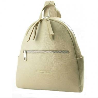 Фото Кожаный рюкзак бежевый 5015