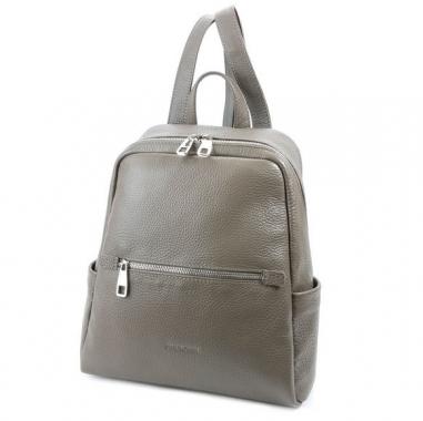 Фото Бежево-серый рюкзак из кожи 5045