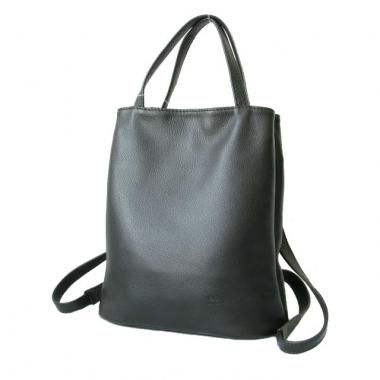 Фото Кожаная сумка-рюкзак KSK 5208 черная