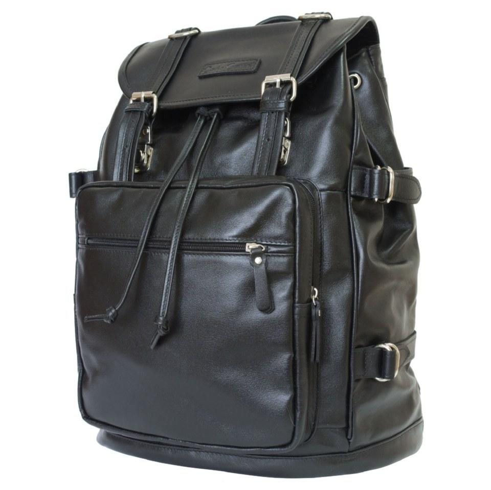 Фото Кожаный рюкзак Волтурно черный