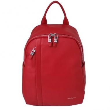 Фото Красный кожаный рюкзак 6101