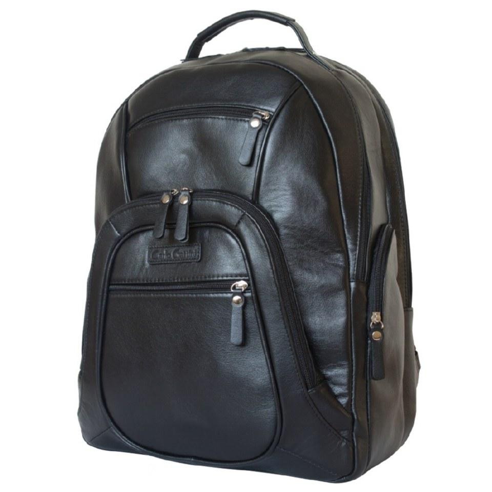 Фото Большой кожаный рюкзак Жерардо черный