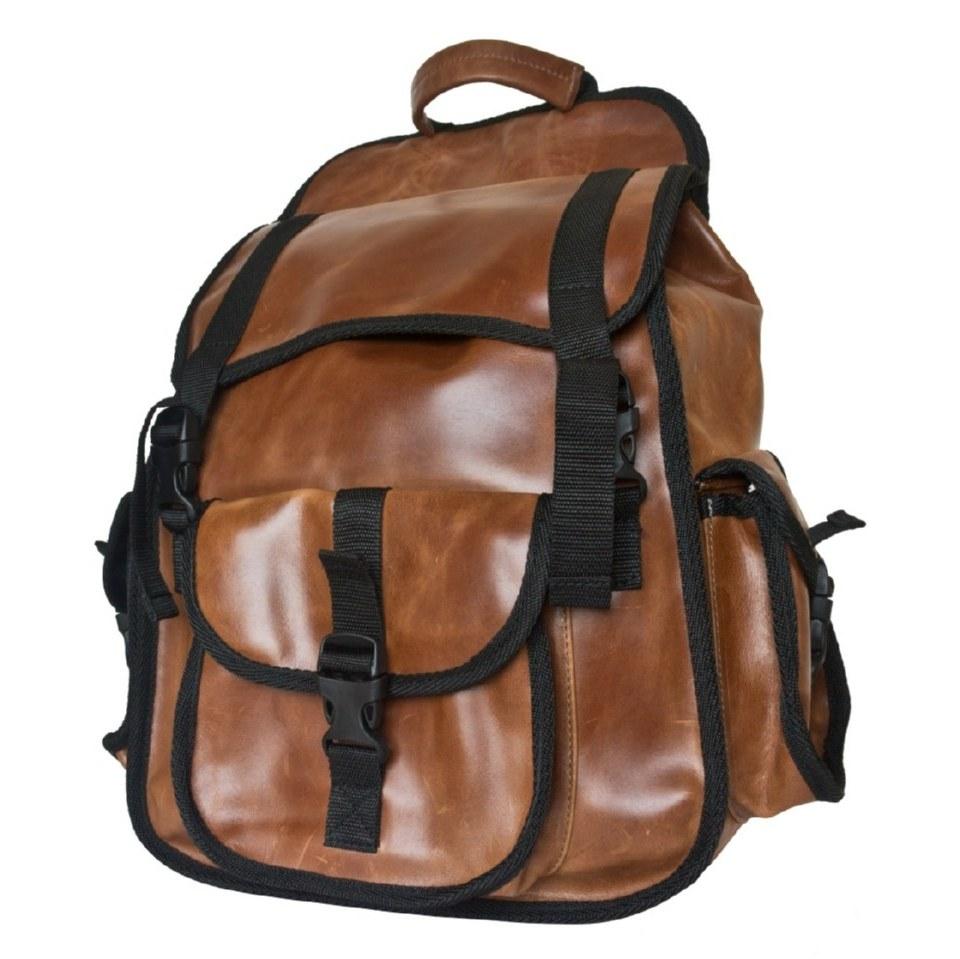 Фото Городской кожаный рюкзак Альпрато рыжий