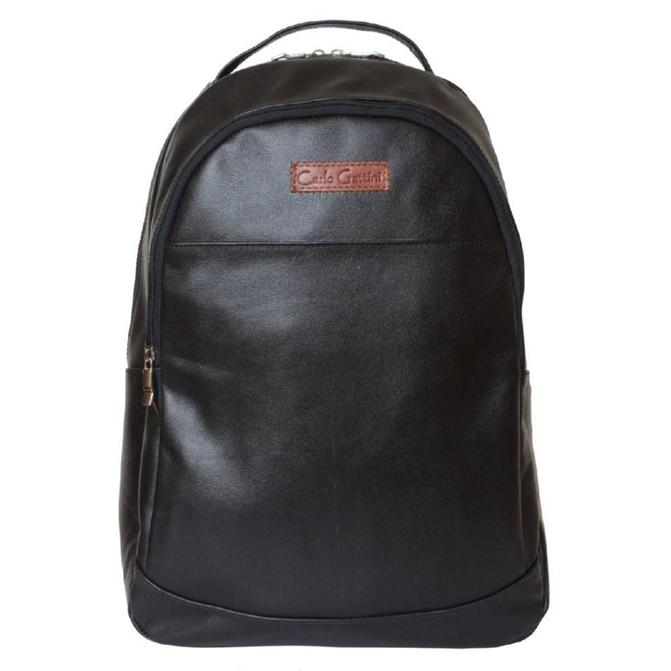Фото Большой черный кожаный рюкзак Фальтона