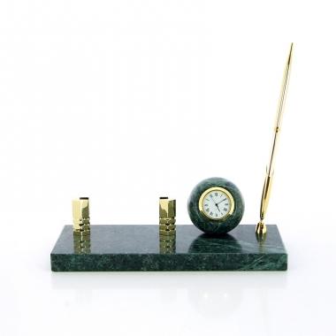 Фото Настольный набор с часами 2124-0