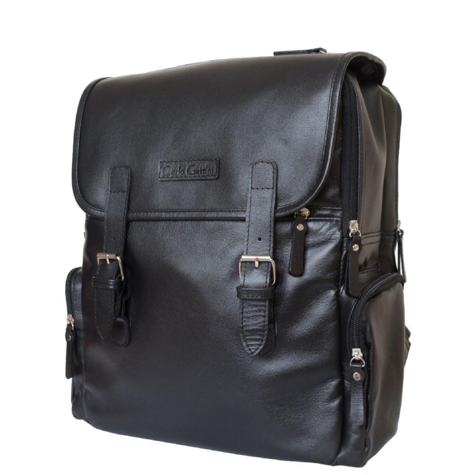 Фото Кожаный рюкзак Сантерно черный