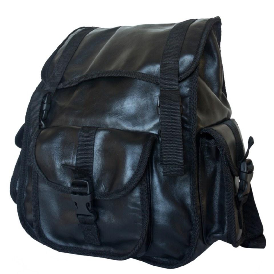 Фото Кожаный рюкзак Альпрато черный