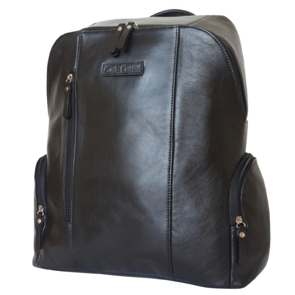 Фото Городской кожаный рюкзак Версола черный