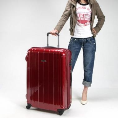 Фото Большой чемодан 00973 красный