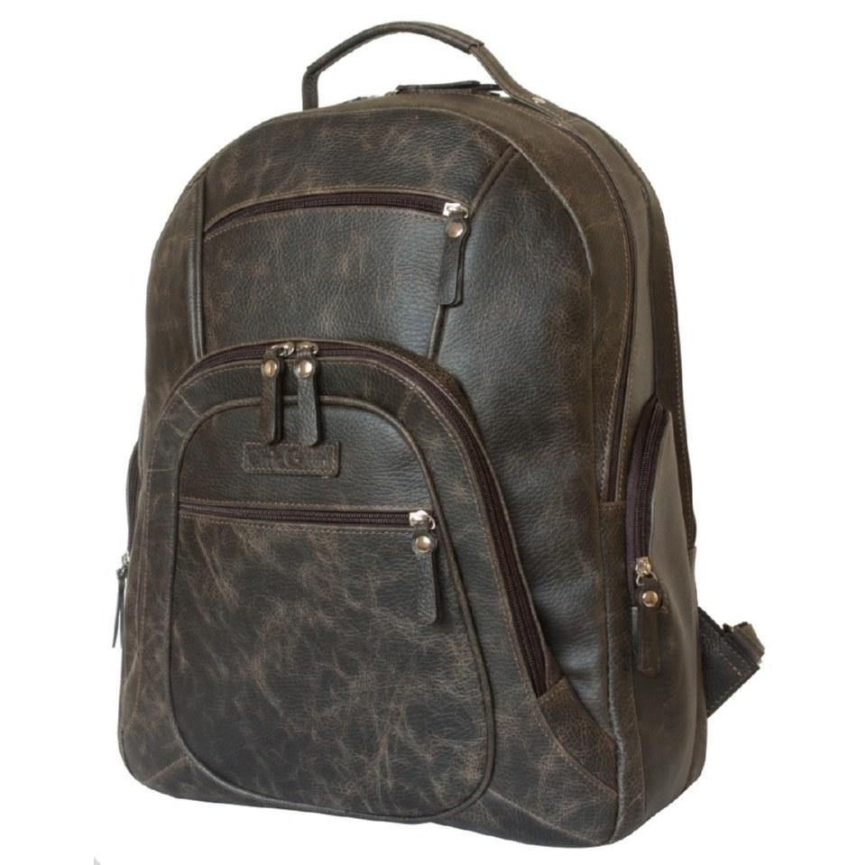 Фото Повседневный кожаный рюкзак Жерардо коричневый