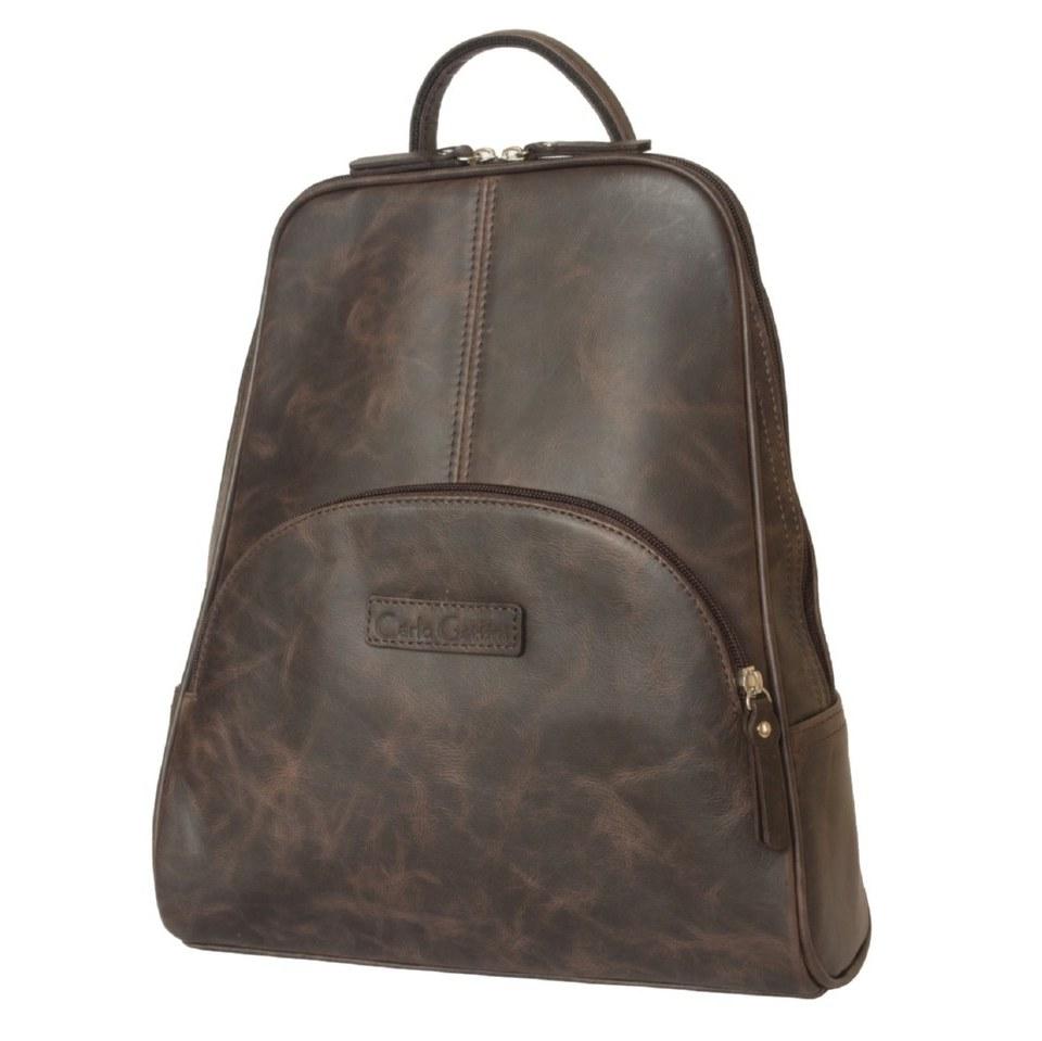 Фото Женский рюкзак кожаный коричневый Эстенс