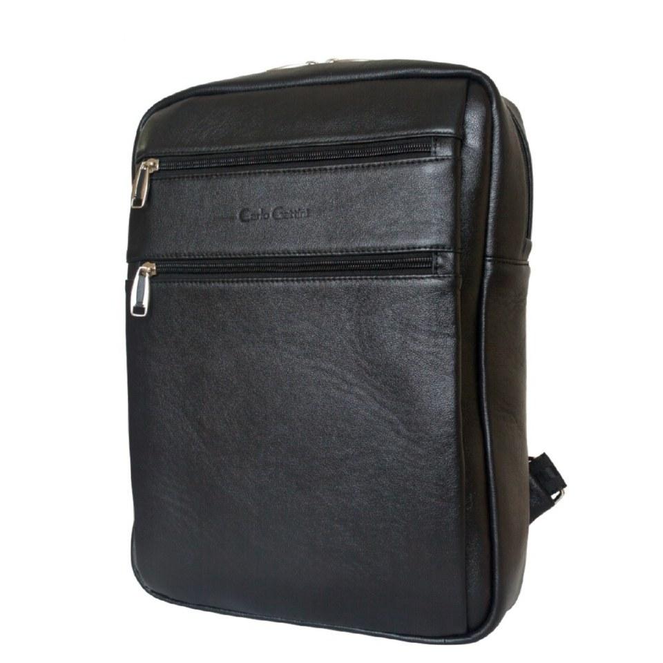 Фото Кожаный мужской рюкзак Берутто черный