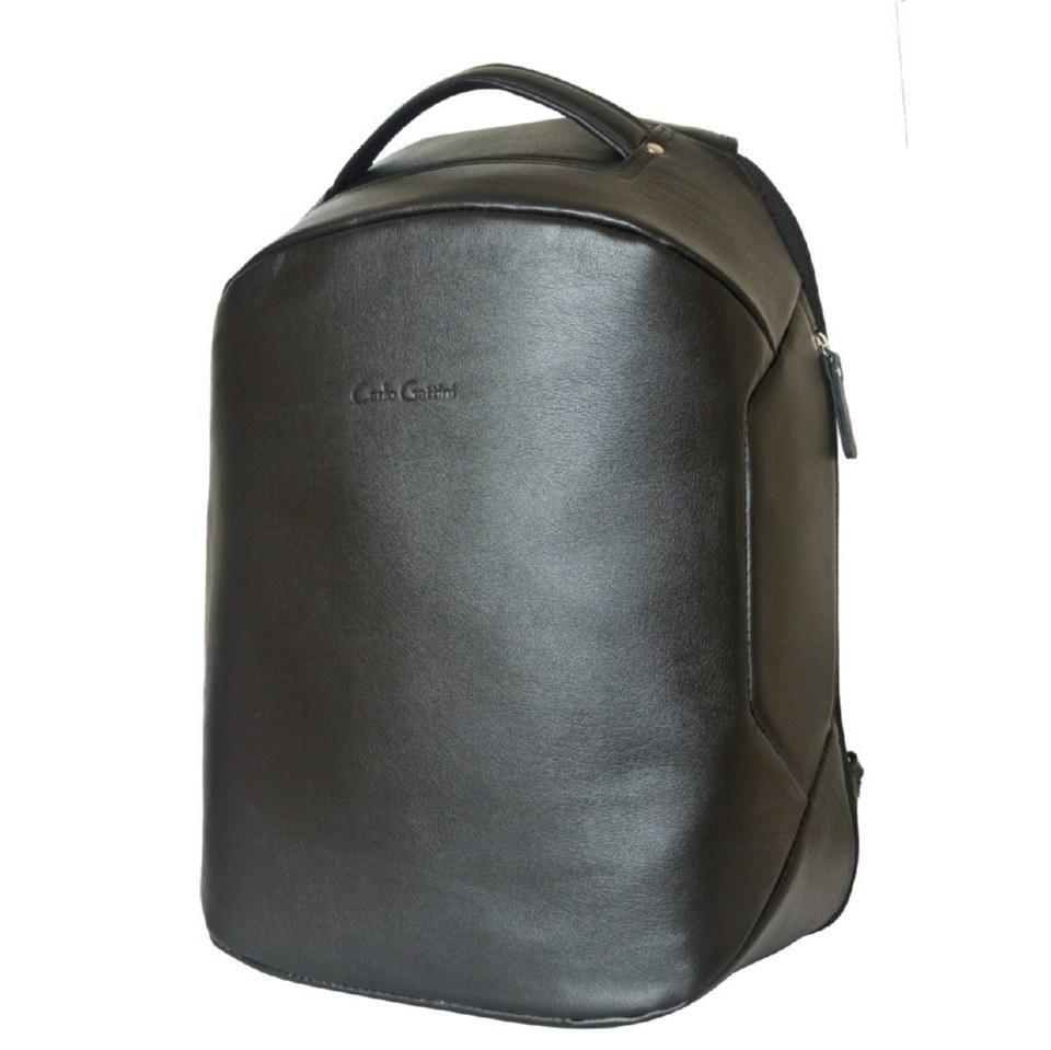 Фото Кожаный рюкзак антивор Сольферино черный