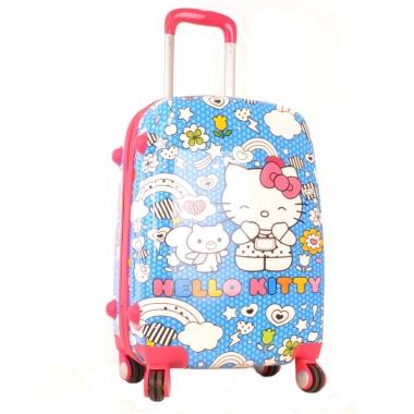 Фото Чемодан пластиковый Hello Kitty