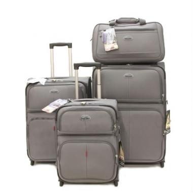 Фото Комплект чемоданов GM241T серый