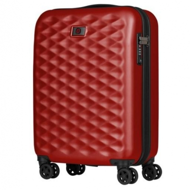 Фото Маленький красный чемодан на колесах 604337