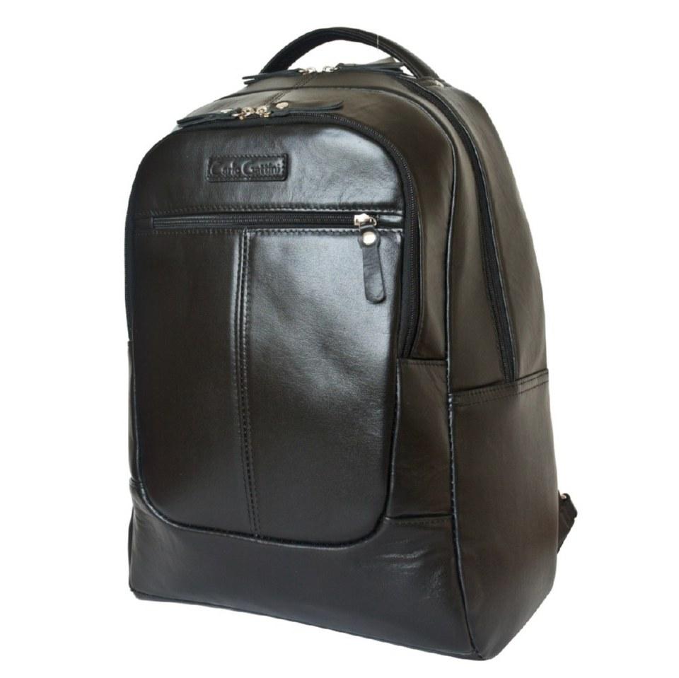 Фото Черный кожаный гордской рюкзак Кольтаро
