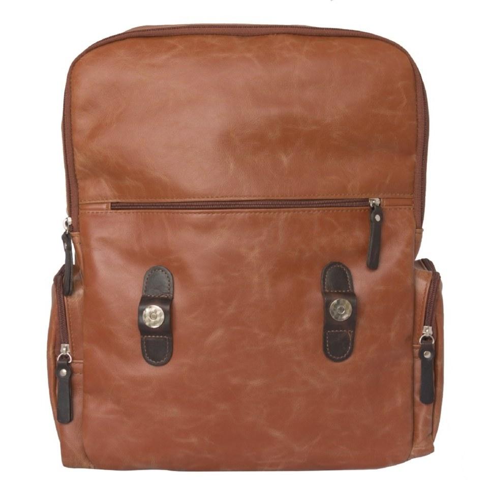 Фото Кожаный рюкзак Сантерно рыжий
