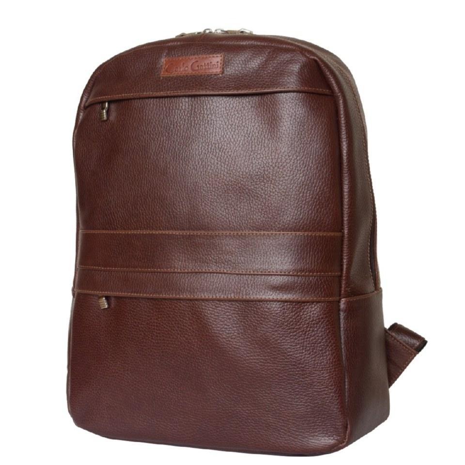 Фото Кожаный рюкзак Таволара темно-терракотовый