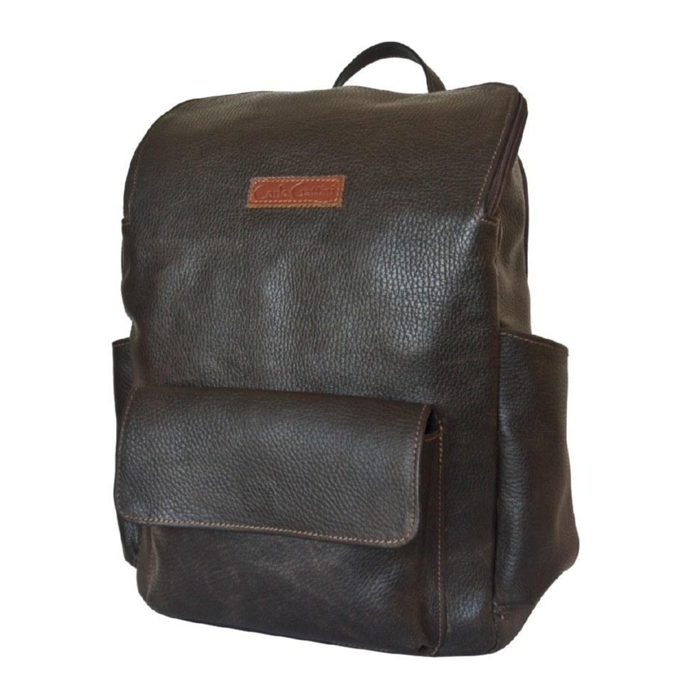 Фото Стильный мужской рюкзак Тиваро коричневый