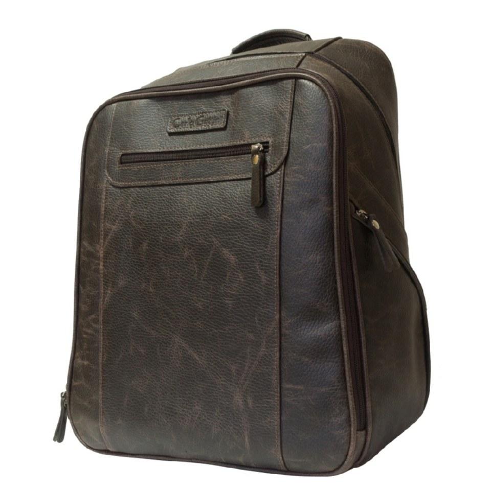 Фото Мужской кожаный рюкзак Коссира коричневый