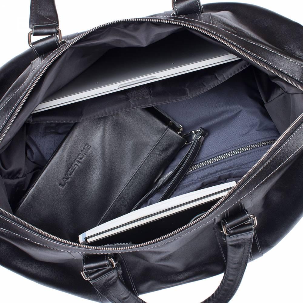 d688757614bc Дорожная кожаная сумка Olympus Black — MosPel