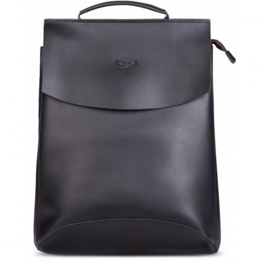 """Фото Кожаный рюкзак """"Мокко-13"""" черный"""
