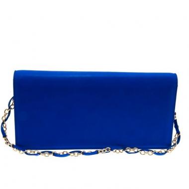 Фото Женский клатч из синей кожи Queen