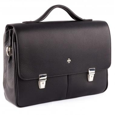Фото Кожаный портфель 9738 Polo Black