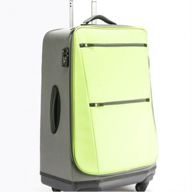 Фото Салатовый чемодан на колесах 63196-13