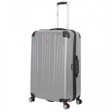 Фото Большой серый пластиковый чемодан Ridge
