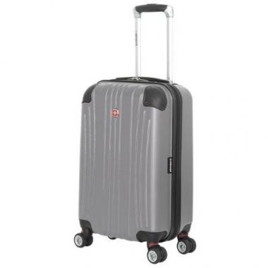 Фото Маленький серый чемодан из abs пластика Ridge