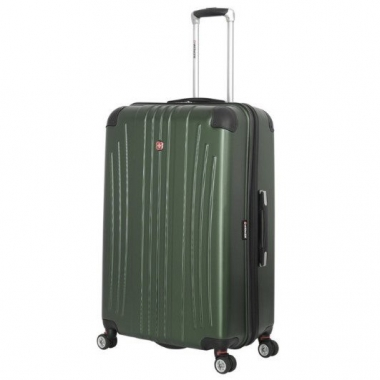 Фото Зеленый чемодан из пластика abs Ridge