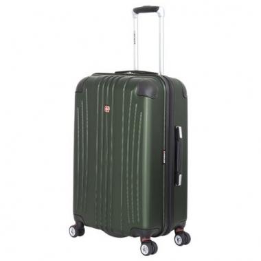 Фото Зеленый пластковый чемодан среднего размера Ridge