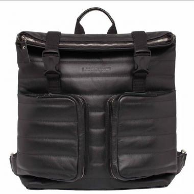 Фото Кожаный черный рюкзак Parson