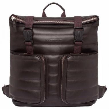 Фото Кожаный коричневый рюкзак Parson