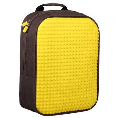 Фото Современный пиксельный рюкзак WY-A001 желтый